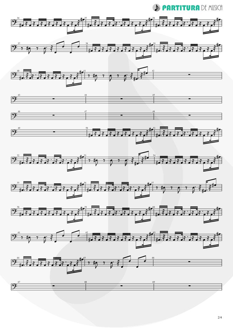 Partitura de musica de Baixo Elétrico - No Limit | 2 Unlimited | No Limits 1993 - pag 2
