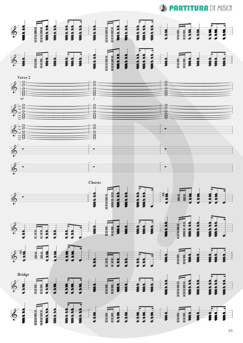 Partitura de musica de Guitarra Elétrica - Be Like That   3 Doors Down   The Better Life 2000 - pag 2