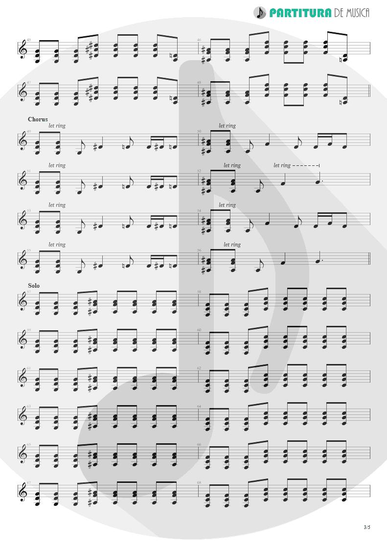 Partitura de musica de Guitarra Elétrica - By My Side | 3 Doors Down | The Better Life 2000 - pag 3