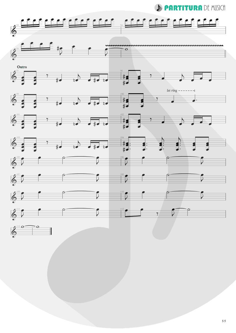 Partitura de musica de Guitarra Elétrica - By My Side | 3 Doors Down | The Better Life 2000 - pag 5