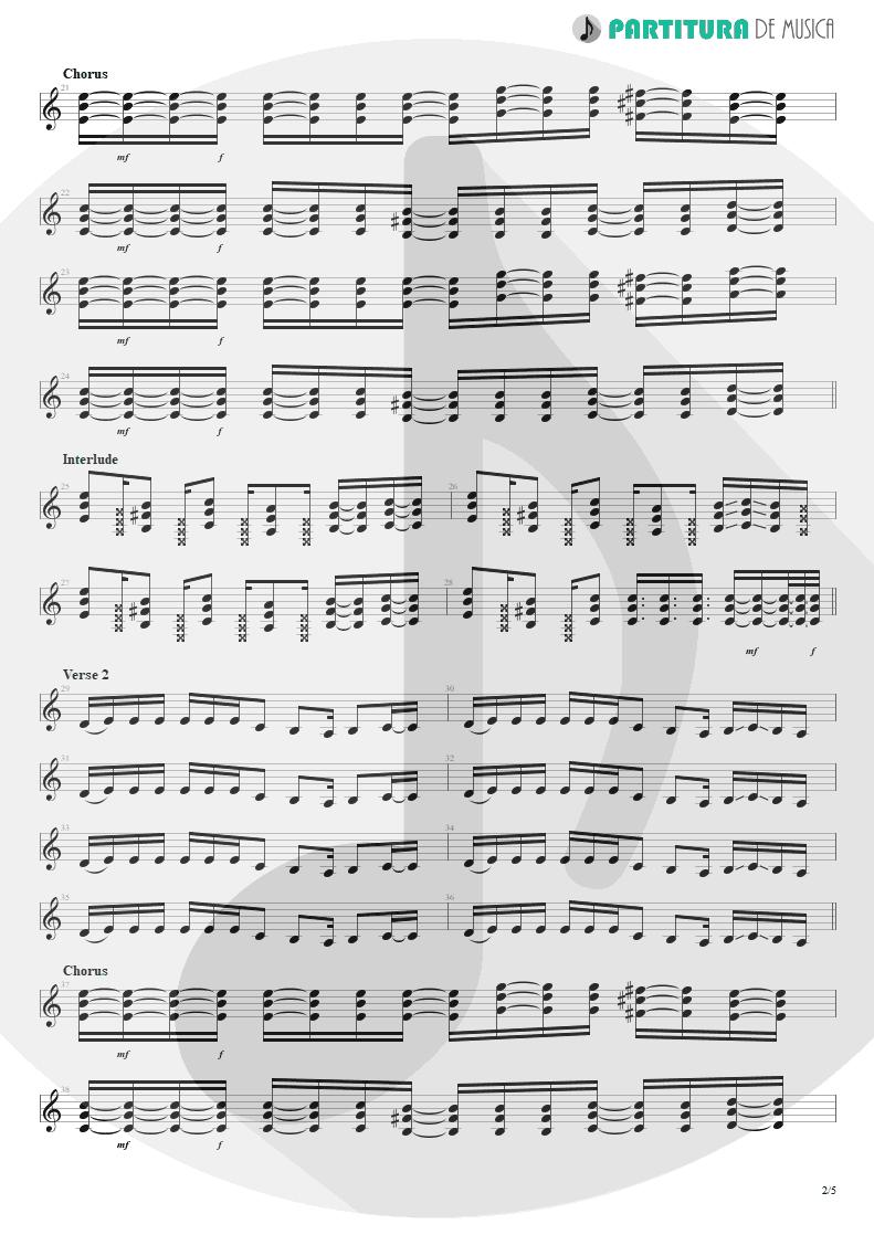 Partitura de musica de Guitarra Elétrica - Duck And Run | 3 Doors Down | The Better Life 2000 - pag 2