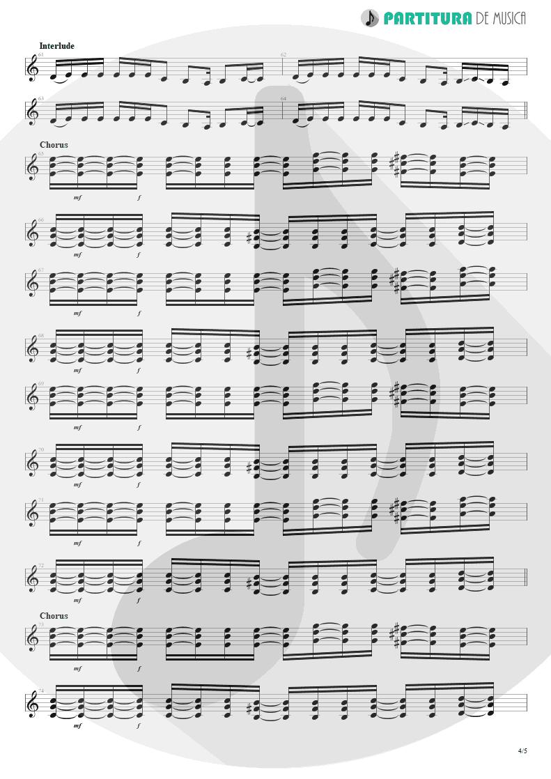 Partitura de musica de Guitarra Elétrica - Duck And Run | 3 Doors Down | The Better Life 2000 - pag 4