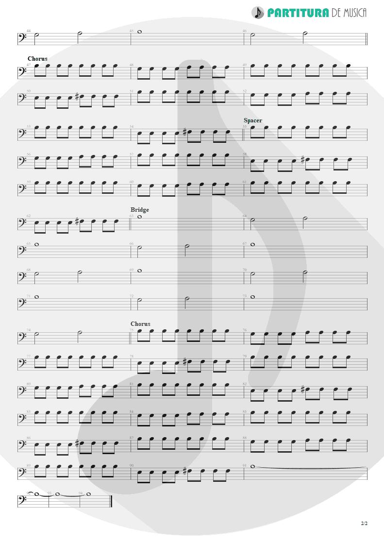 Partitura de musica de Baixo Elétrico - Kryptonite | 3 Doors Down | The Better Life 2000 - pag 2