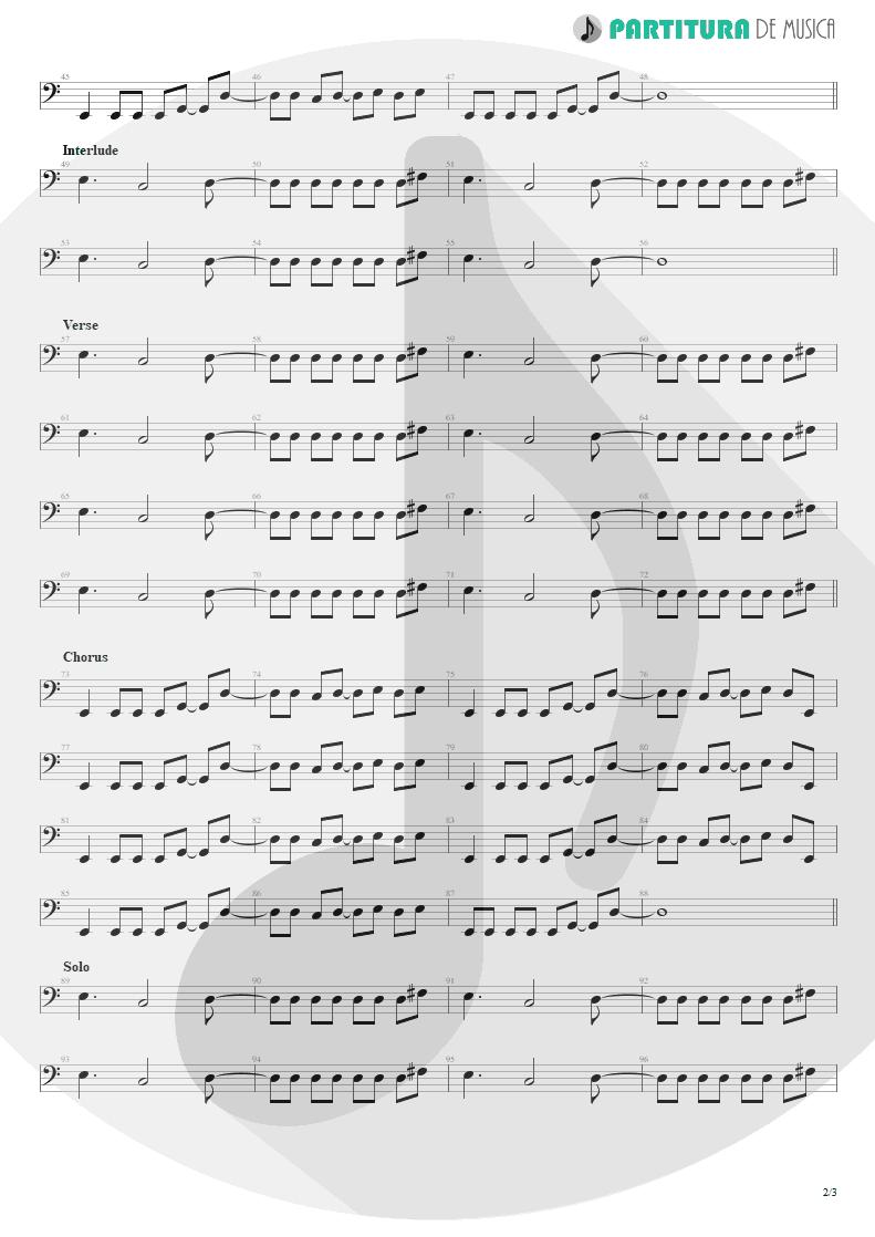 Partitura de musica de Baixo Elétrico - Life Of My Own   3 Doors Down   The Better Life 2000 - pag 2