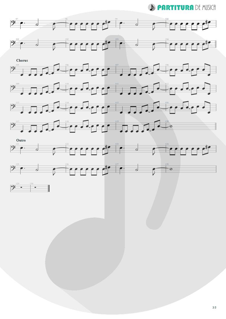 Partitura de musica de Baixo Elétrico - Life Of My Own   3 Doors Down   The Better Life 2000 - pag 3