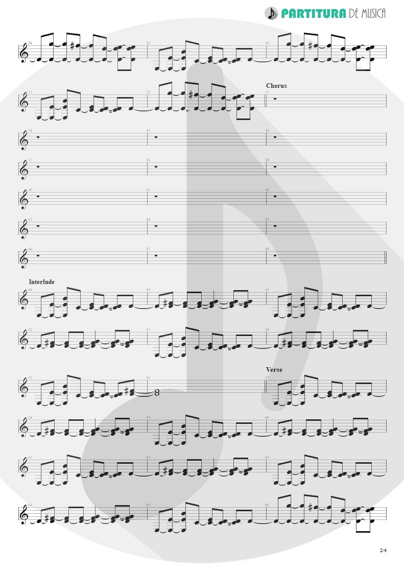 Partitura de musica de Guitarra Elétrica - Life Of My Own | 3 Doors Down | The Better Life 2000 - pag 2