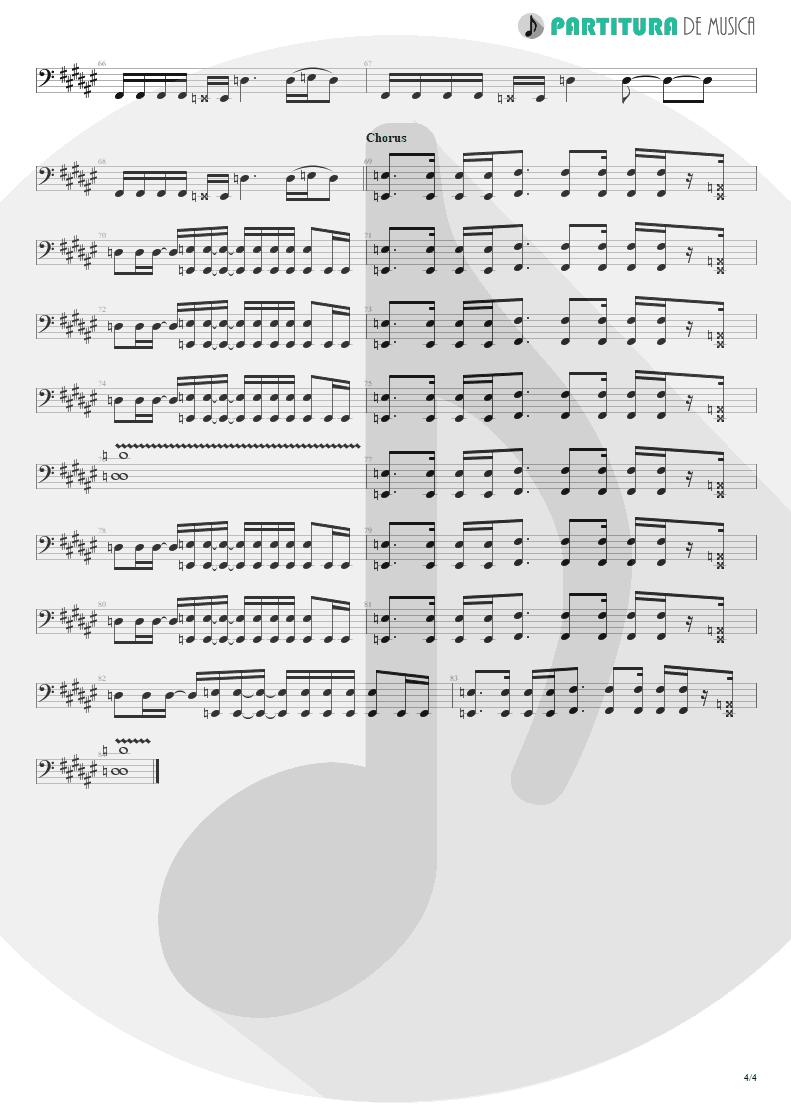 Partitura de musica de Baixo Elétrico - Loser | 3 Doors Down | The Better Life 2000 - pag 4