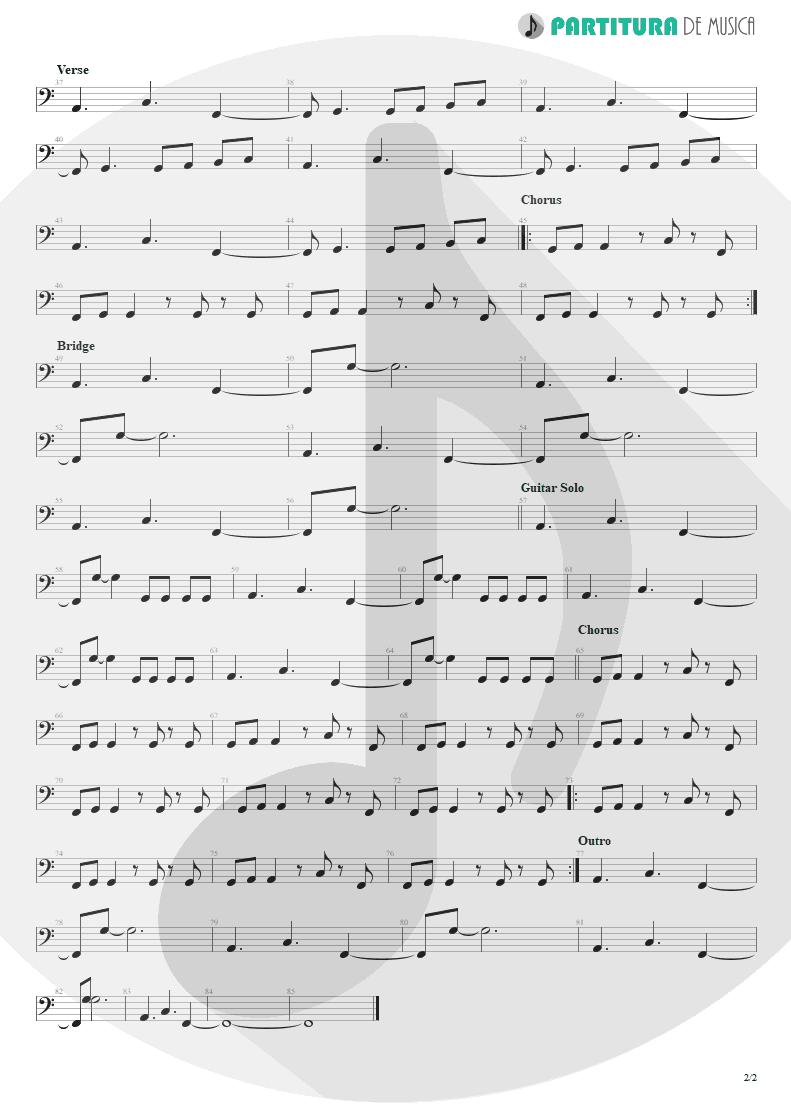 Partitura de musica de Baixo Elétrico - Not Enough | 3 Doors Down | The Better Life 2000 - pag 2