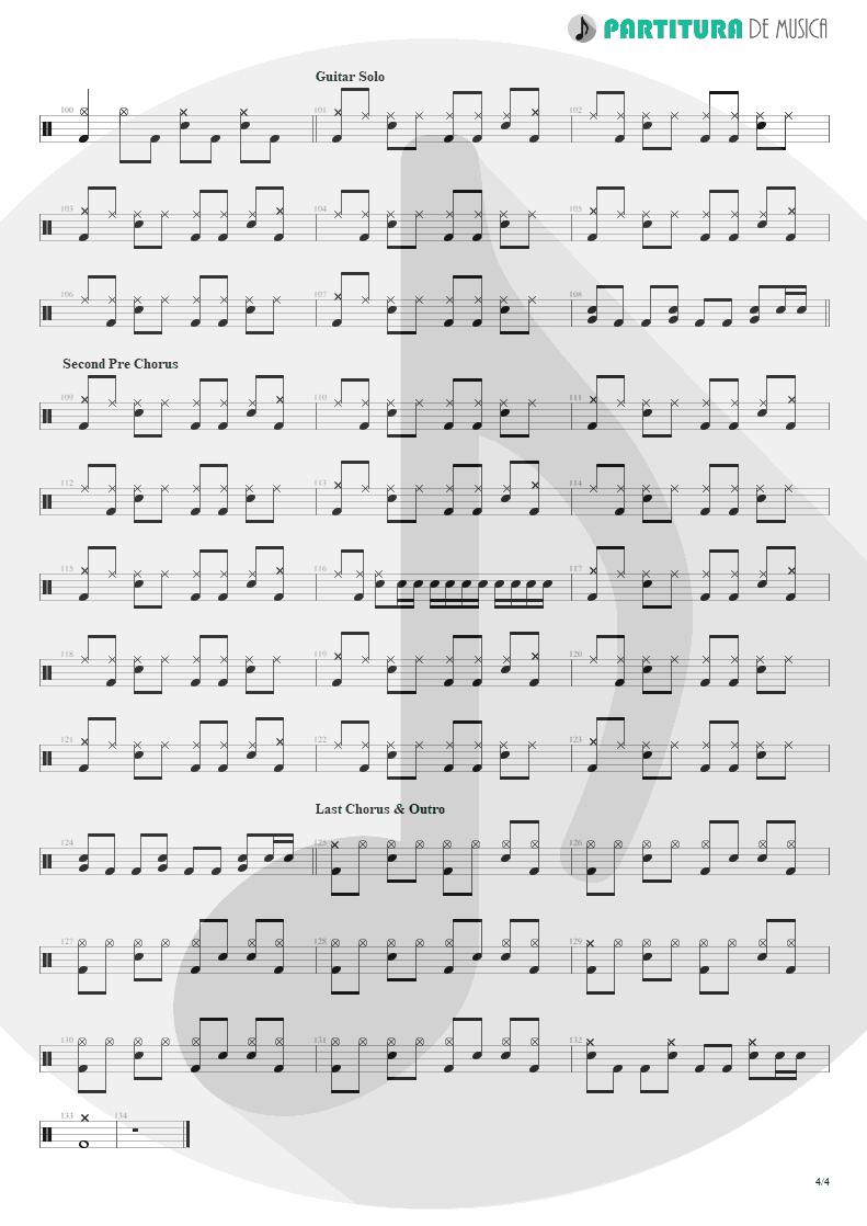Partitura de musica de Bateria - So I Need You | 3 Doors Down | The Better Life 2000 - pag 4