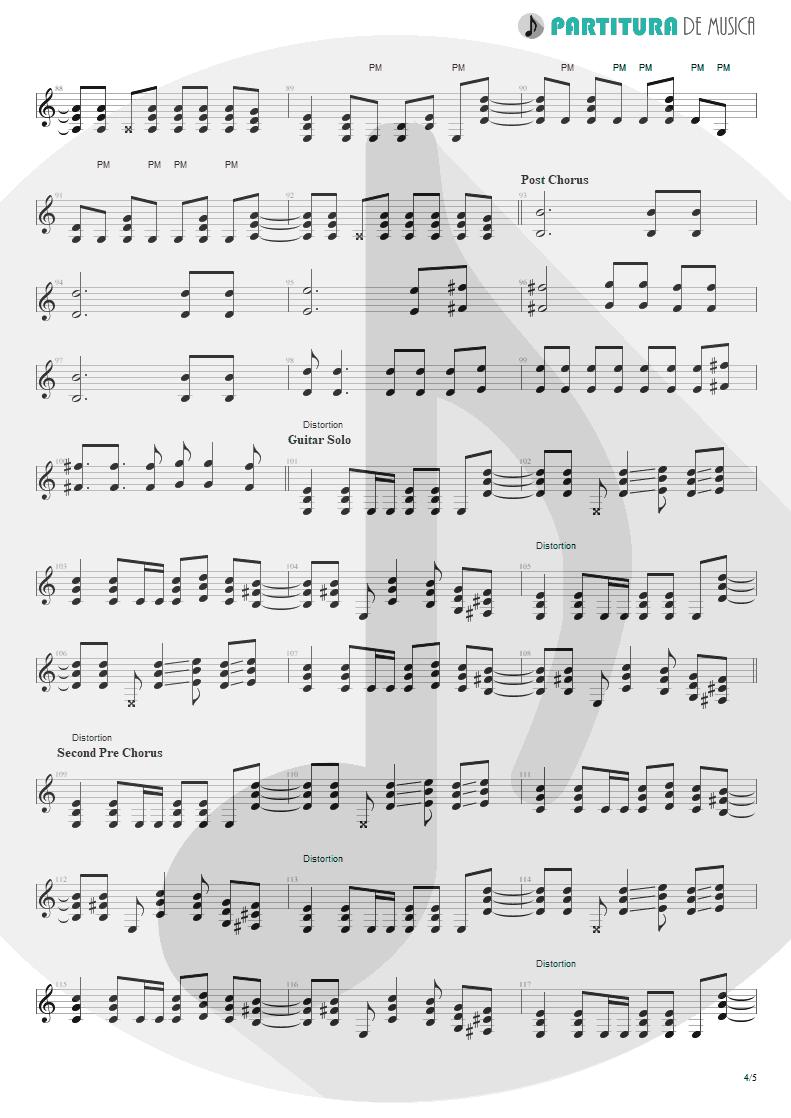 Partitura de musica de Guitarra Elétrica - So I Need You | 3 Doors Down | The Better Life 2000 - pag 4