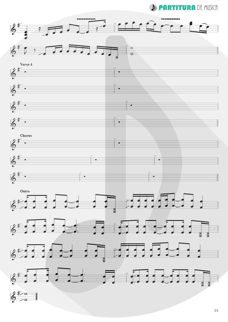 Partitura de musica de Guitarra Elétrica - The Road I'm On | 3 Doors Down | Away from the Sun 2002 - pag 2