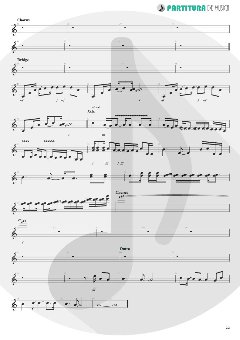 Partitura de musica de Guitarra Elétrica - When I'm Gone | 3 Doors Down | Away from the Sun 2002 - pag 2