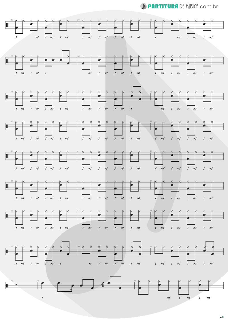 Partitura de musica de Bateria - Rock 'N' Roll Singer   AC/DC   T.N.T. 1975 - pag 2