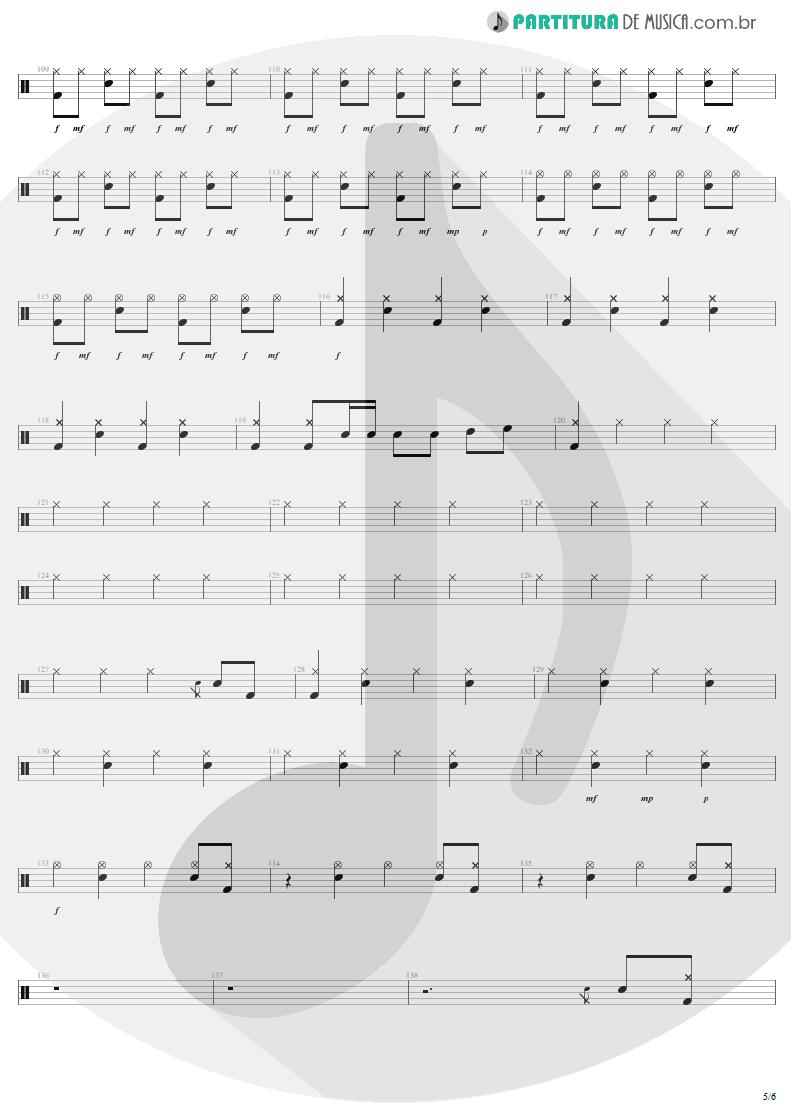 Partitura de musica de Bateria - Rock 'N' Roll Singer   AC/DC   T.N.T. 1975 - pag 5