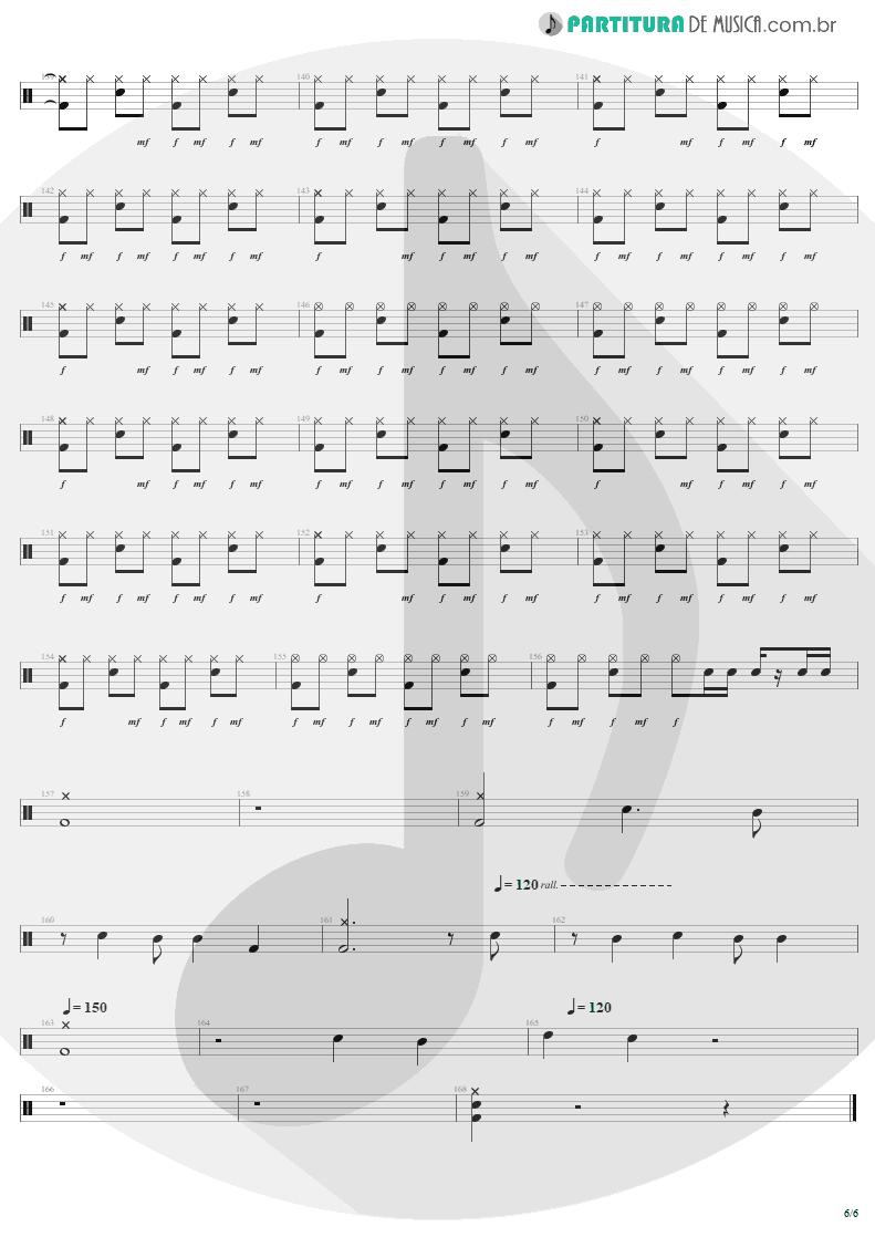 Partitura de musica de Bateria - Rock 'N' Roll Singer   AC/DC   T.N.T. 1975 - pag 6