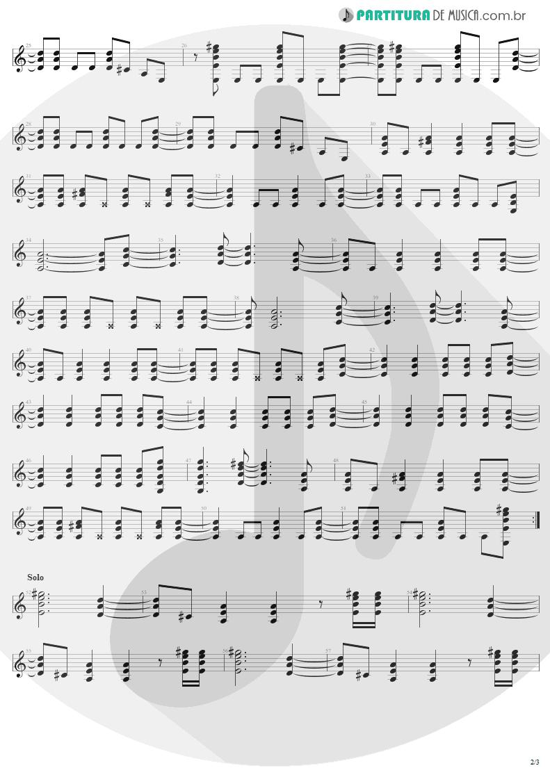 Partitura de musica de Guitarra Elétrica - High Voltage   AC/DC   High Voltage 1976 - pag 2