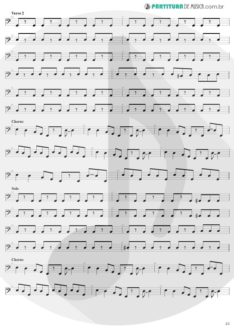 Partitura de musica de Baixo Elétrico - Little Lover | AC/DC | High Voltage 1976 - pag 2
