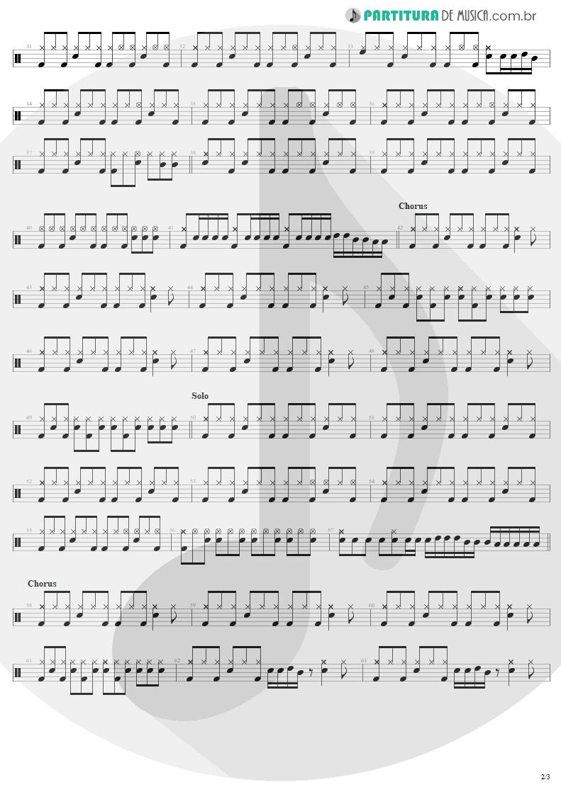 Partitura de musica de Bateria - Little Lover | AC/DC | High Voltage 1976 - pag 2