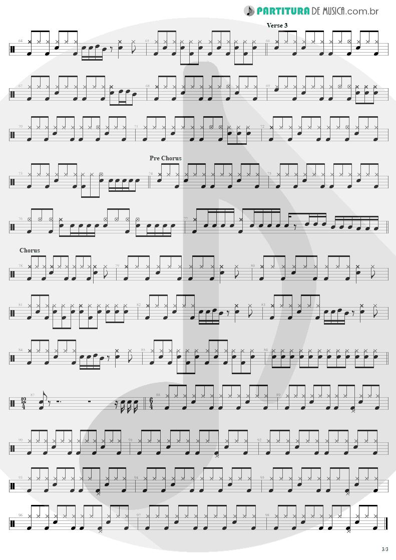 Partitura de musica de Bateria - Little Lover | AC/DC | High Voltage 1976 - pag 3