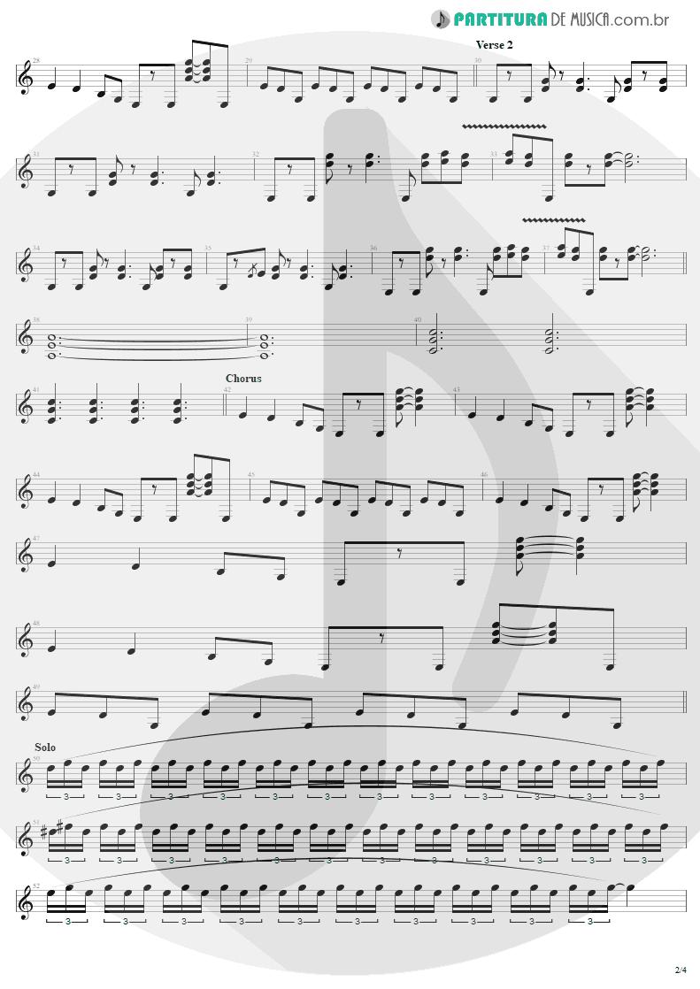 Partitura de musica de Guitarra Elétrica - Little Lover | AC/DC | High Voltage 1976 - pag 2