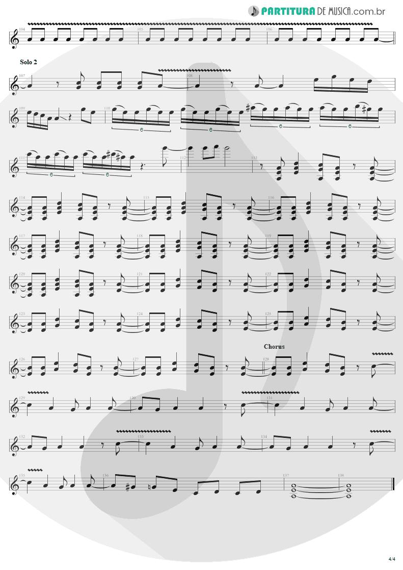 Partitura de musica de Guitarra Elétrica - Bad Boy Boogie   AC/DC   Let There Be Rock 1977 - pag 4