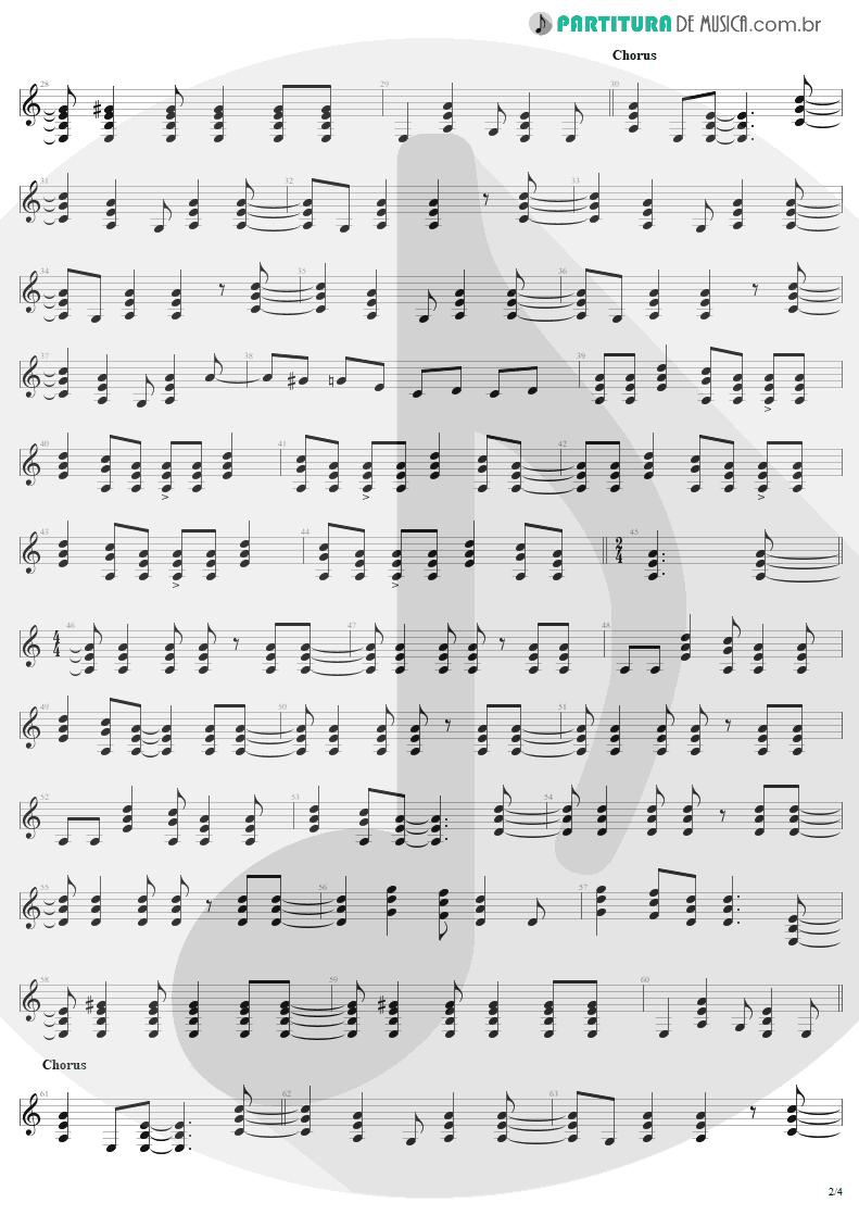 Partitura de musica de Guitarra Elétrica - Bad Boy Boogie | AC/DC | Let There Be Rock 1977 - pag 2