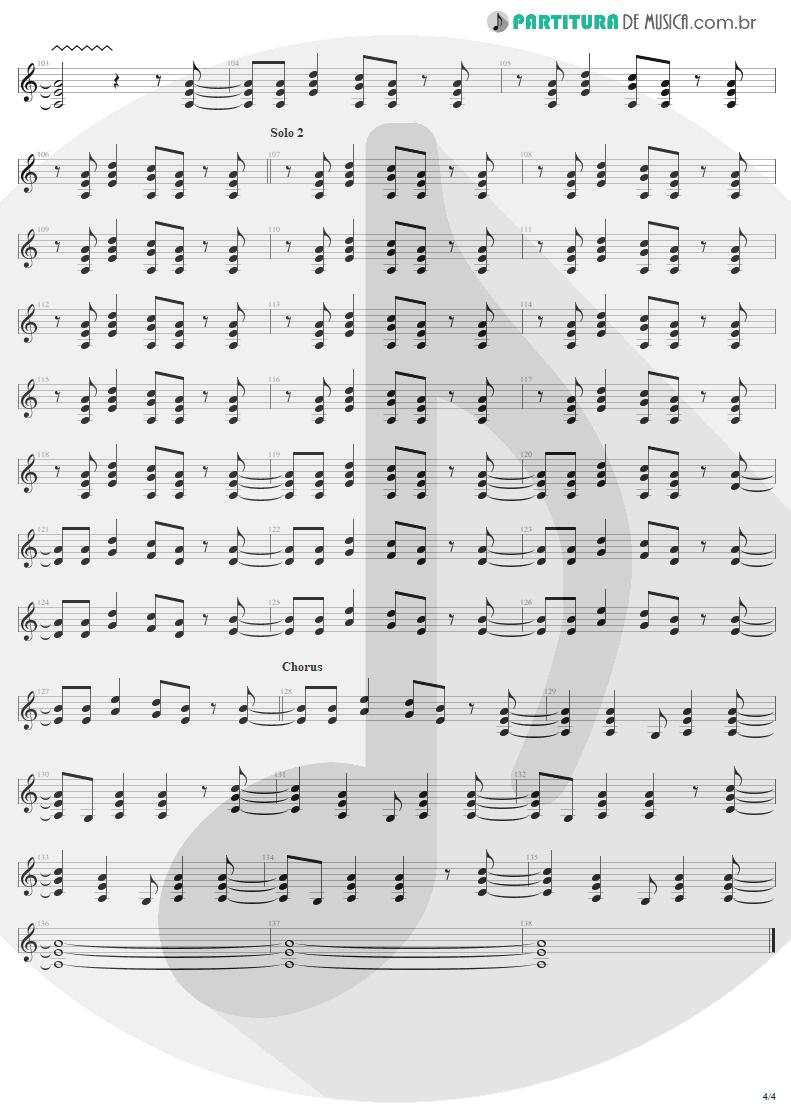 Partitura de musica de Guitarra Elétrica - Bad Boy Boogie | AC/DC | Let There Be Rock 1977 - pag 4