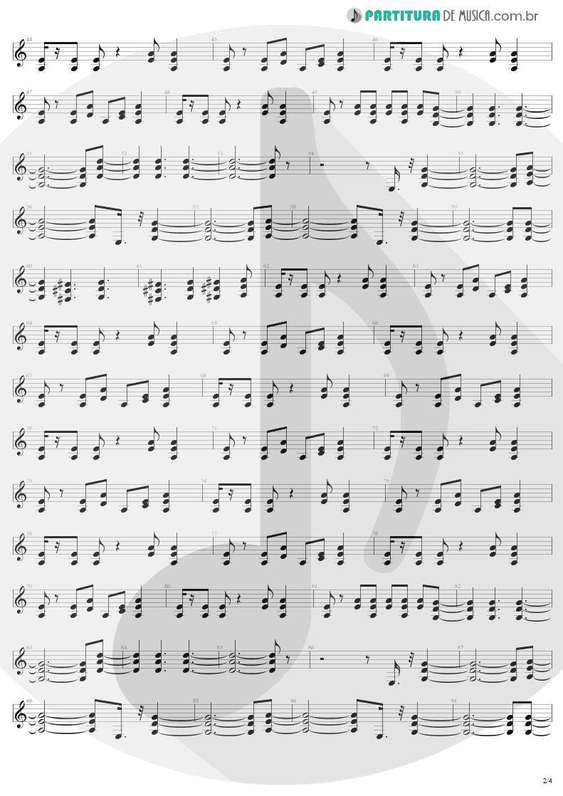 Partitura de musica de Guitarra Elétrica - Whole Lotta Rosie | AC/DC | Let There Be Rock 1977 - pag 2