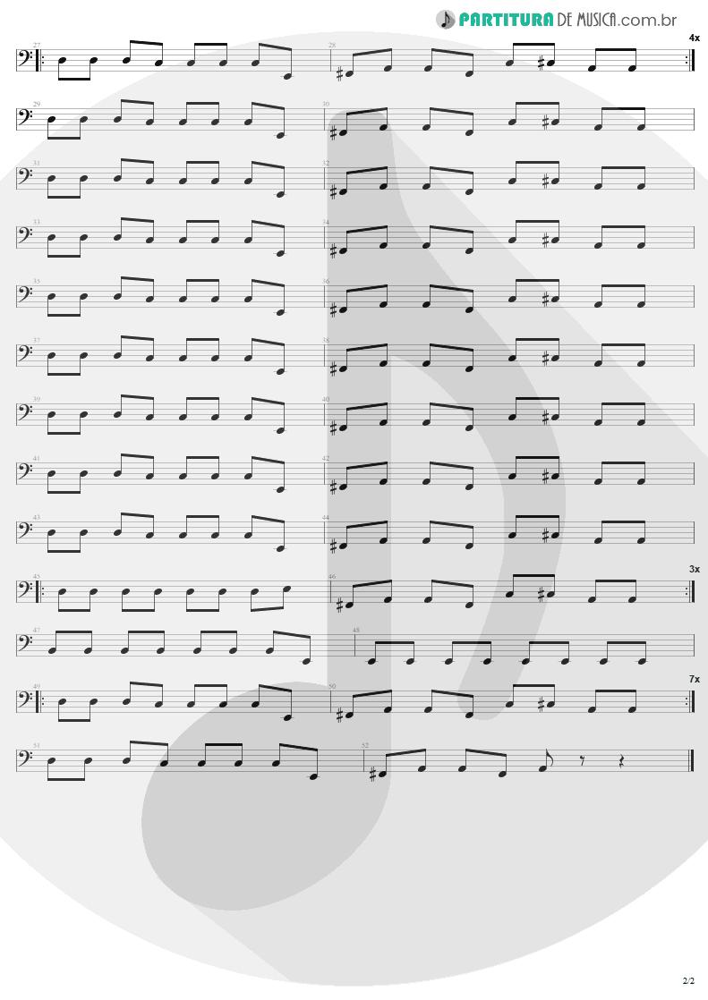 Partitura de musica de Baixo Elétrico - Girls Got Rhythm | AC/DC | Highway to Hell 1979 - pag 2