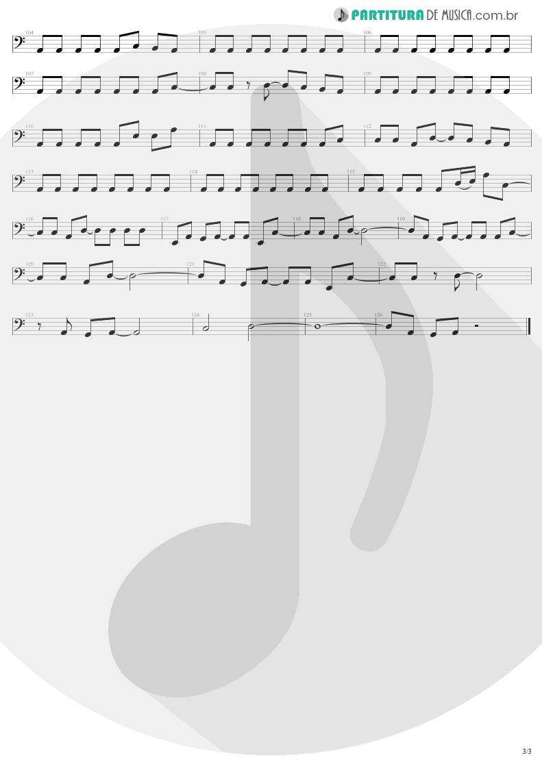 Partitura de musica de Baixo Elétrico - Hells Bells | AC/DC | Back In Black 1980 - pag 3