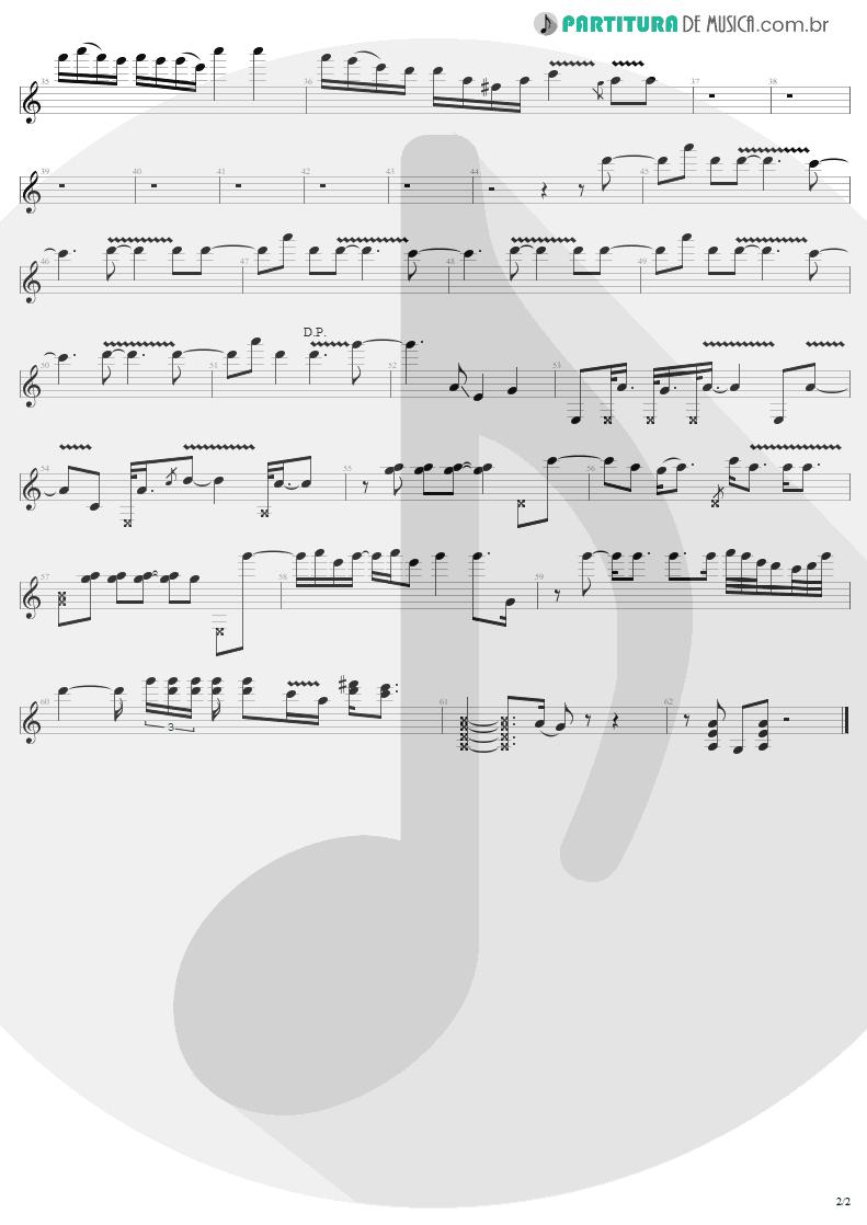 Partitura de musica de Guitarra Elétrica - Hells Bells | AC/DC | Back In Black 1980 - pag 2