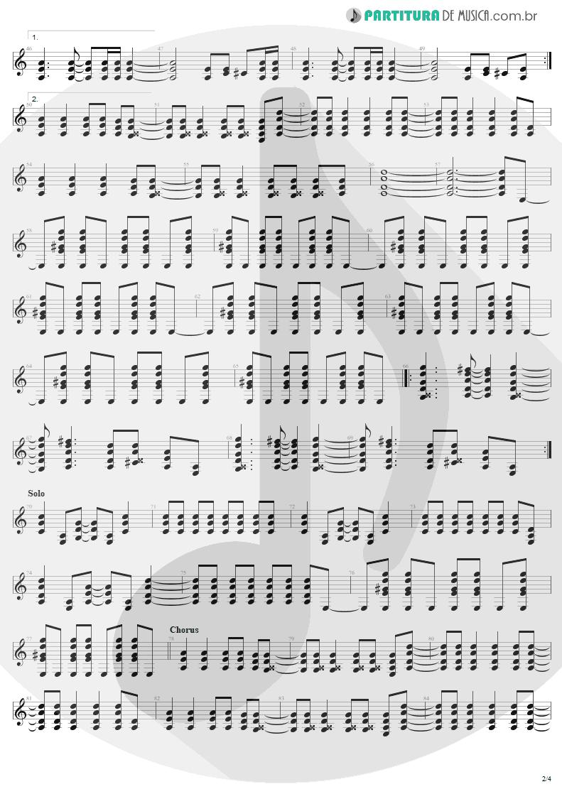 Partitura de musica de Guitarra Elétrica - Shoot To Thrill   AC/DC   Back In Black 1980 - pag 2