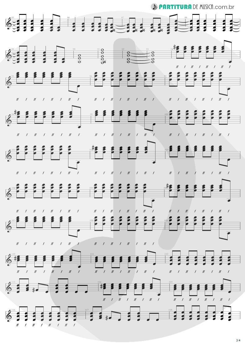 Partitura de musica de Guitarra Elétrica - Shoot To Thrill   AC/DC   Back In Black 1980 - pag 3