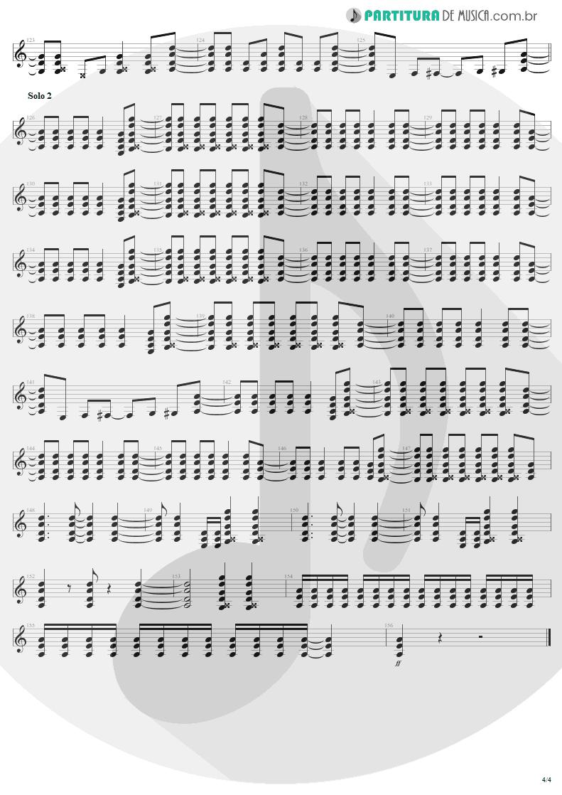 Partitura de musica de Guitarra Elétrica - Shoot To Thrill   AC/DC   Back In Black 1980 - pag 4