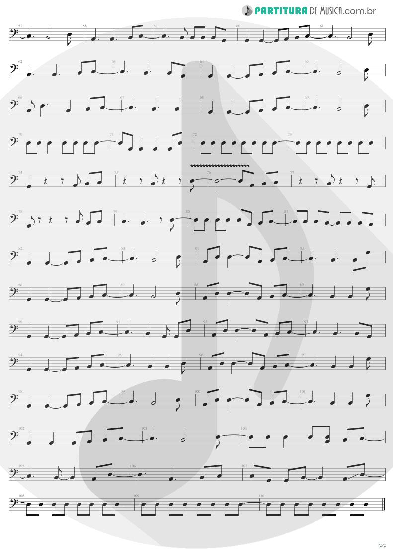 Partitura de musica de Baixo Elétrico - You Shook Me All Night Long   AC/DC   Back In Black 1980 - pag 2