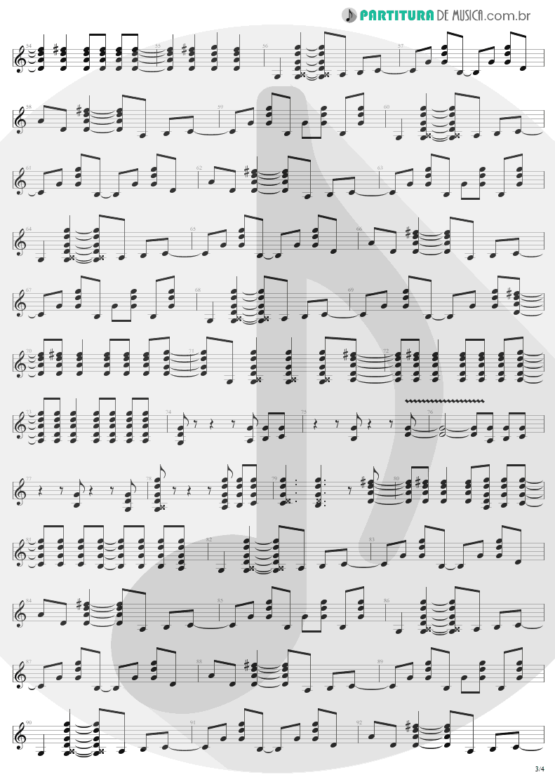 Partitura de musica de Guitarra Elétrica - You Shook Me All Night Long | AC/DC | Back In Black 1980 - pag 3