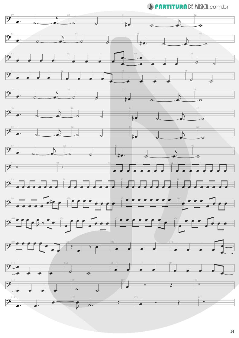 Partitura de musica de Baixo Elétrico - For Those About To Rock | AC/DC | For Those About to Rock We Salute You 1981 - pag 2