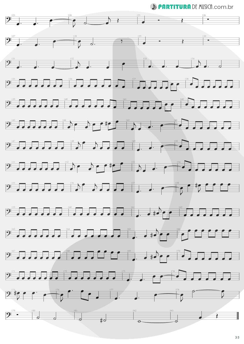 Partitura de musica de Baixo Elétrico - For Those About To Rock | AC/DC | For Those About to Rock We Salute You 1981 - pag 3