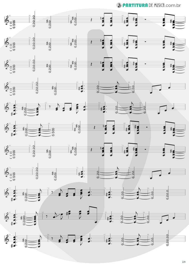 Partitura de musica de Guitarra Elétrica - For Those About To Rock | AC/DC | For Those About to Rock We Salute You 1981 - pag 2