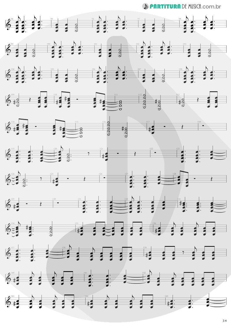 Partitura de musica de Guitarra Elétrica - For Those About To Rock | AC/DC | For Those About to Rock We Salute You 1981 - pag 3