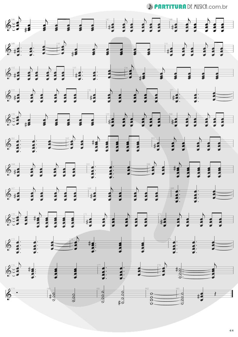 Partitura de musica de Guitarra Elétrica - For Those About To Rock | AC/DC | For Those About to Rock We Salute You 1981 - pag 4