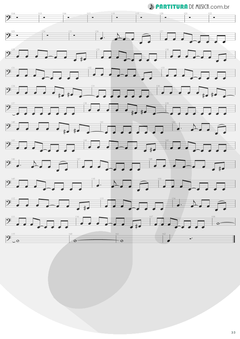 Partitura de musica de Baixo Elétrico - Thunderstruck | AC/DC | The Razors Edge 1990 - pag 3