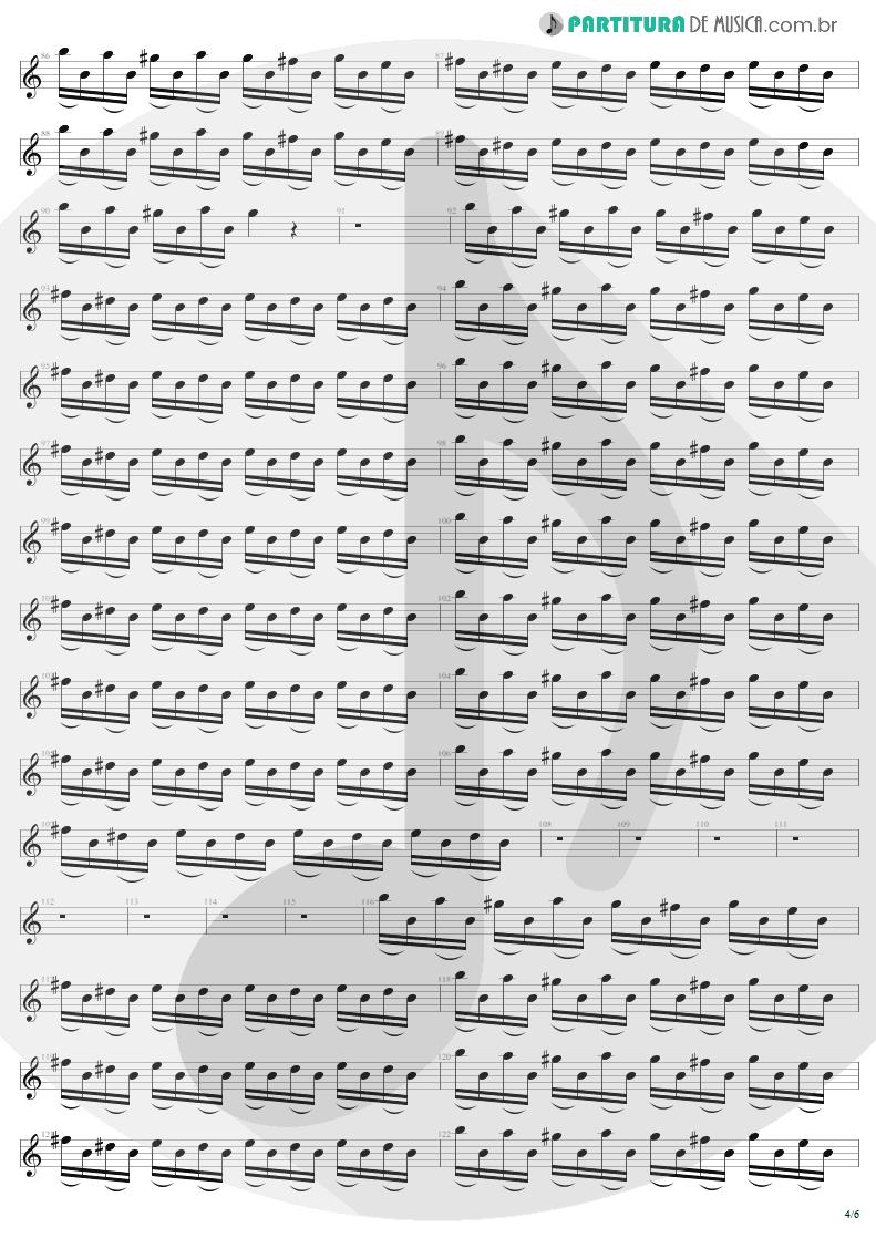 Partitura de musica de Guitarra Elétrica - Thunderstruck | AC/DC | The Razors Edge 1990 - pag 4