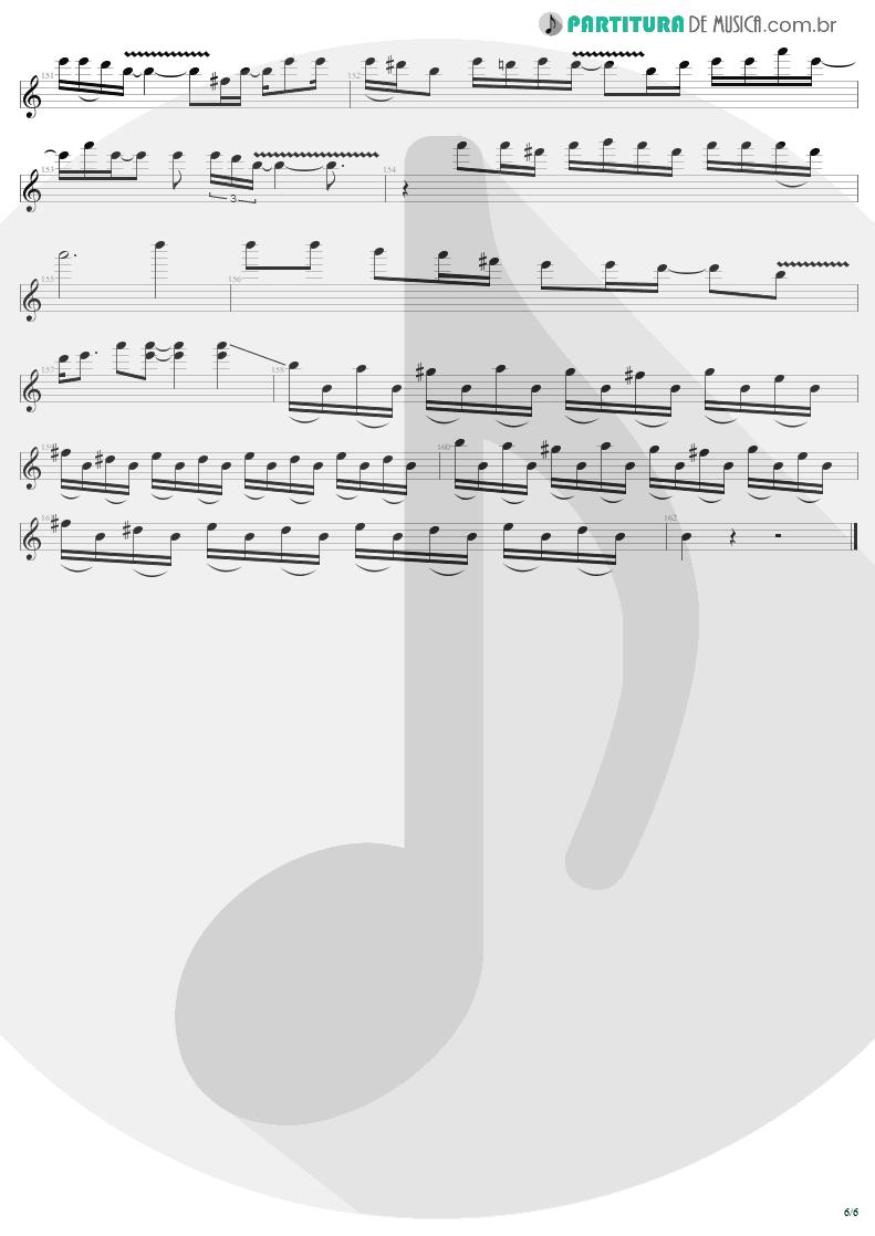 Partitura de musica de Guitarra Elétrica - Thunderstruck | AC/DC | The Razors Edge 1990 - pag 6