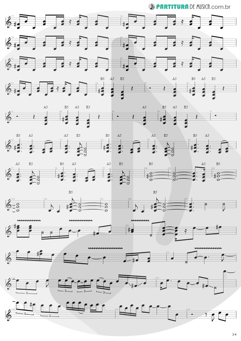 Partitura de musica de Guitarra Elétrica - Thunderstruck | AC/DC | The Razors Edge 1990 - pag 3