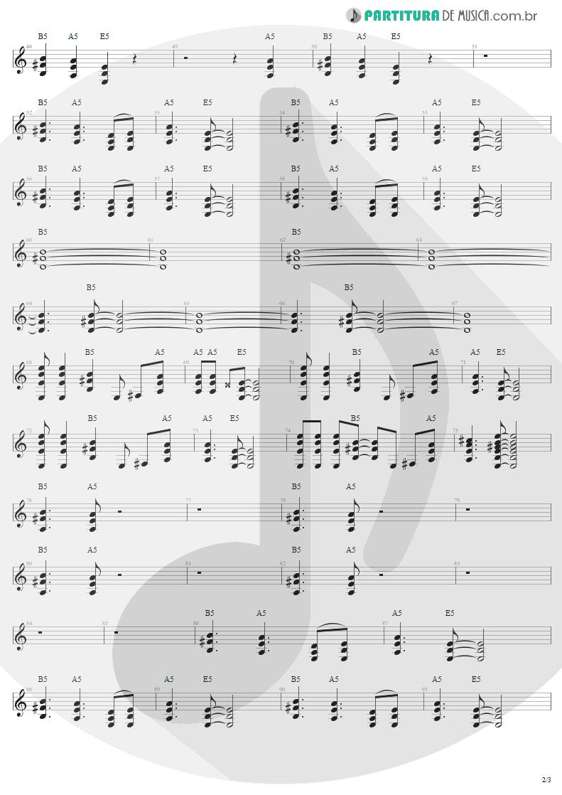 Partitura de musica de Guitarra Elétrica - Thunderstruck   AC/DC   The Razors Edge 1990 - pag 2