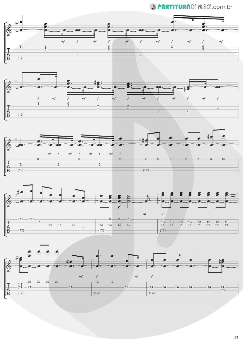 Tablatura + Partitura de musica de Guitarra Elétrica - Stiff Upper Lip   AC/DC   Stiff Upper Lip 2000 - pag 2
