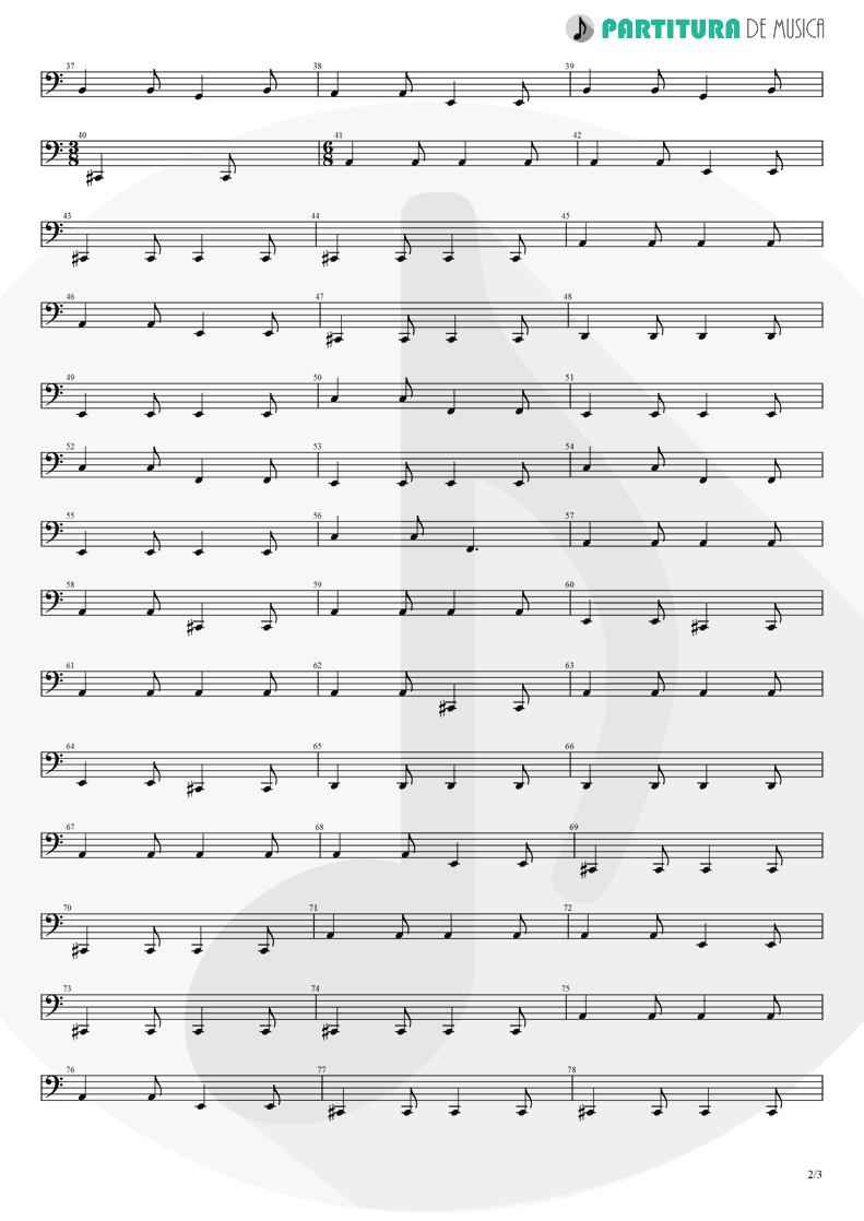 Partitura de musica de Baixo Elétrico - 3 Libras | A Perfect Circle | Mer de Noms 2000 - pag 2