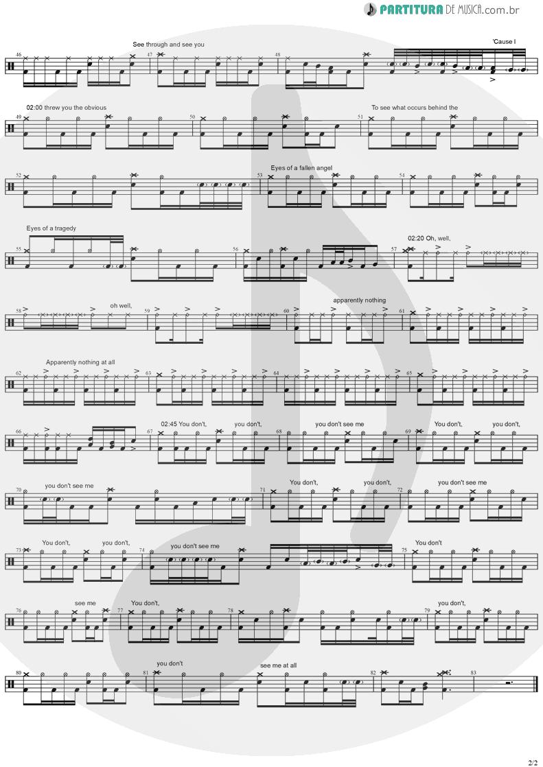Partitura de musica de Bateria - 3 Libras | A Perfect Circle | Mer de Noms 2000 - pag 2