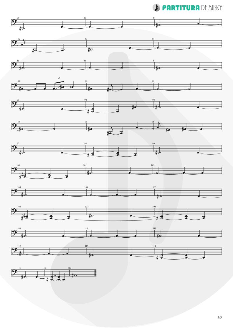 Partitura de musica de Baixo Elétrico - Brena | A Perfect Circle | Mer de Noms 2000 - pag 3